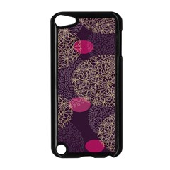 Twig Surface Design Purple Pink Gold Circle Apple Ipod Touch 5 Case (black) by Alisyart