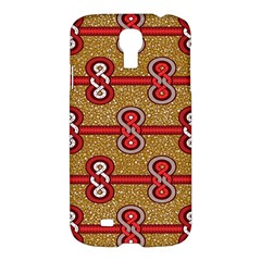 African Fabric Iron Chains Red Purple Pink Samsung Galaxy S4 I9500/i9505 Hardshell Case by Alisyart
