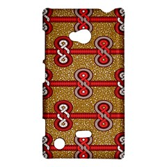 African Fabric Iron Chains Red Purple Pink Nokia Lumia 720 by Alisyart