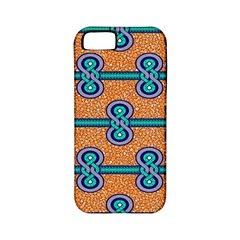 African Fabric Iron Chains Blue Orange Apple Iphone 5 Classic Hardshell Case (pc+silicone) by Alisyart