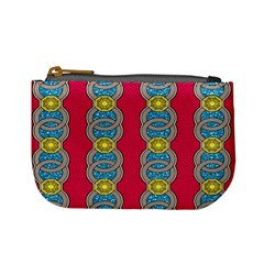 African Fabric Iron Chains Red Yellow Blue Grey Mini Coin Purses by Alisyart