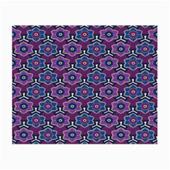 African Fabric Flower Purple Small Glasses Cloth (2 Side) by Alisyart