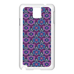 African Fabric Flower Purple Samsung Galaxy Note 3 N9005 Case (white) by Alisyart