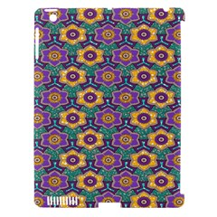 African Fabric Flower Green Purple Apple Ipad 3/4 Hardshell Case (compatible With Smart Cover) by Alisyart