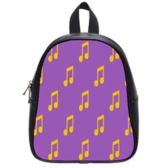 Eighth Note Music Tone Yellow Purple School Bags (small)  by Alisyart