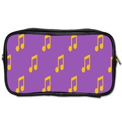 Eighth Note Music Tone Yellow Purple Toiletries Bags by Alisyart
