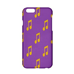 Eighth Note Music Tone Yellow Purple Apple Iphone 6/6s Hardshell Case by Alisyart