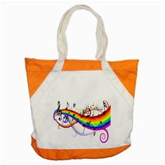 Color Music Notes Accent Tote Bag by Alisyart