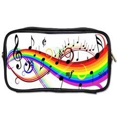 Color Music Notes Toiletries Bags 2 Side by Alisyart