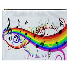Color Music Notes Cosmetic Bag (xxxl)  by Alisyart