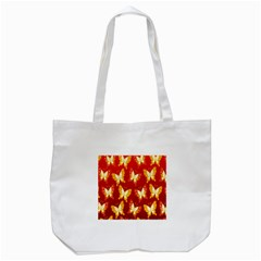 Butterfly Gold Red Yellow Animals Fly Tote Bag (white) by Alisyart