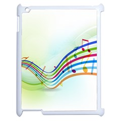 Color Musical Note Waves Apple Ipad 2 Case (white) by Alisyart