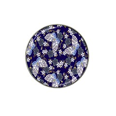 Butterfly Iron Chains Blue Purple Animals White Fly Floral Flower Hat Clip Ball Marker
