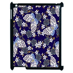 Butterfly Iron Chains Blue Purple Animals White Fly Floral Flower Apple Ipad 2 Case (black) by Alisyart