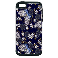 Butterfly Iron Chains Blue Purple Animals White Fly Floral Flower Apple Iphone 5 Hardshell Case (pc+silicone) by Alisyart