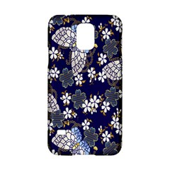 Butterfly Iron Chains Blue Purple Animals White Fly Floral Flower Samsung Galaxy S5 Hardshell Case  by Alisyart
