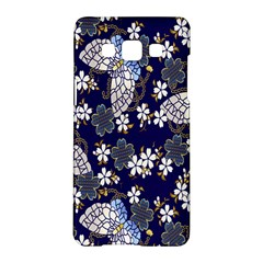 Butterfly Iron Chains Blue Purple Animals White Fly Floral Flower Samsung Galaxy A5 Hardshell Case  by Alisyart