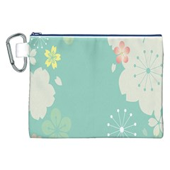 Flower Blue Pink Yellow Canvas Cosmetic Bag (xxl) by Alisyart