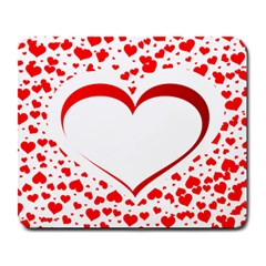 Love Red Hearth Large Mousepads