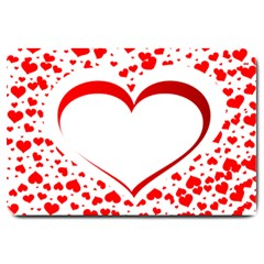 Love Red Hearth Large Doormat  by Amaryn4rt