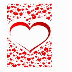 Love Red Hearth Large Garden Flag (two Sides)