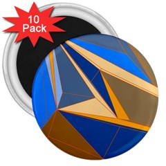 Abstract Background Pattern 3  Magnets (10 Pack)  by Amaryn4rt
