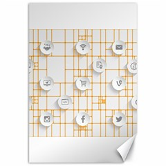 Icon Media Social Network Canvas 20  X 30   by Amaryn4rt
