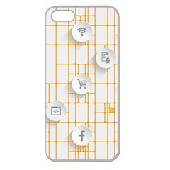 Icon Media Social Network Apple Seamless Iphone 5 Case (clear)