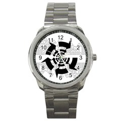 Arrows Top Below Circuit Parts Sport Metal Watch by Amaryn4rt