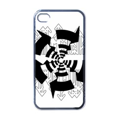 Arrows Top Below Circuit Parts Apple Iphone 4 Case (black) by Amaryn4rt