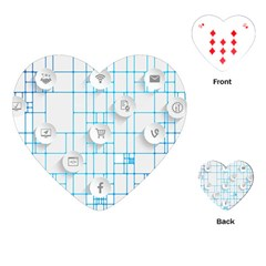 Icon Media Social Network Playing Cards (heart)