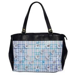 Icon Media Social Network Office Handbags by Amaryn4rt