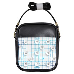 Icon Media Social Network Girls Sling Bags by Amaryn4rt