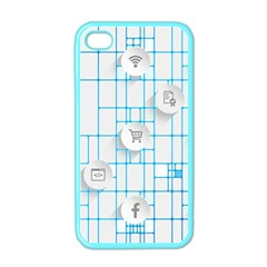 Icon Media Social Network Apple Iphone 4 Case (color)
