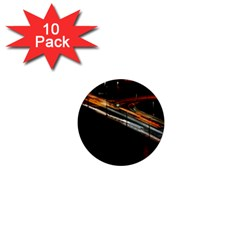 Highway Night Lighthouse Car Fast 1  Mini Buttons (10 pack)  by Amaryn4rt