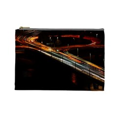 Highway Night Lighthouse Car Fast Cosmetic Bag (large)  by Amaryn4rt