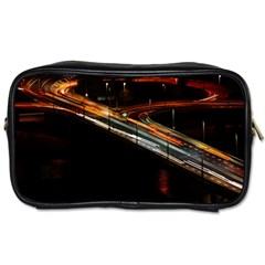 Highway Night Lighthouse Car Fast Toiletries Bags 2 Side by Amaryn4rt