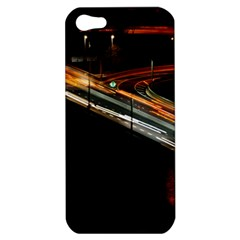 Highway Night Lighthouse Car Fast Apple Iphone 5 Hardshell Case by Amaryn4rt