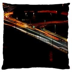 Highway Night Lighthouse Car Fast Standard Flano Cushion Case (one Side) by Amaryn4rt