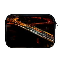 Highway Night Lighthouse Car Fast Apple Macbook Pro 17  Zipper Case by Amaryn4rt