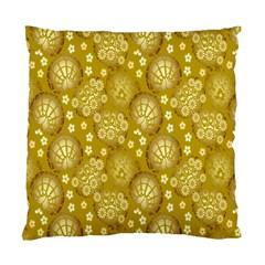 Flower Arrangements Season Gold Standard Cushion Case (one Side) by Alisyart