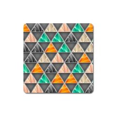 Abstract Geometric Triangle Shape Square Magnet by Amaryn4rt
