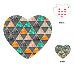 Abstract Geometric Triangle Shape Playing Cards (heart)  by Amaryn4rt