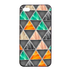 Abstract Geometric Triangle Shape Apple Iphone 4/4s Seamless Case (black) by Amaryn4rt