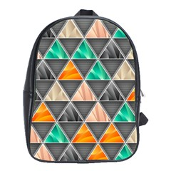 Abstract Geometric Triangle Shape School Bags (xl)  by Amaryn4rt