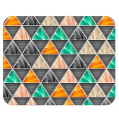 Abstract Geometric Triangle Shape Double Sided Flano Blanket (medium)  by Amaryn4rt
