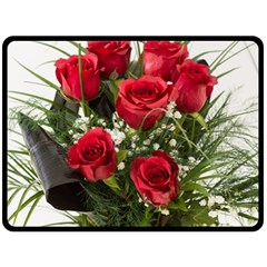 Red Roses Roses Red Flower Love Fleece Blanket (large)  by Amaryn4rt