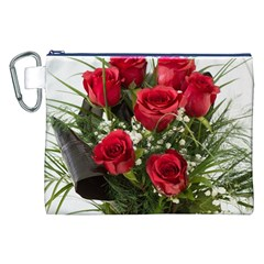 Red Roses Roses Red Flower Love Canvas Cosmetic Bag (xxl) by Amaryn4rt