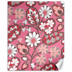 Flower Floral Red Blush Pink Canvas 16  X 20   by Alisyart