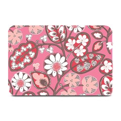 Flower Floral Red Blush Pink Plate Mats by Alisyart